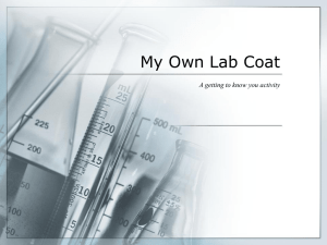 My Own Lab Coat - The Science Queen