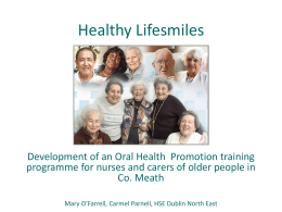 Development of an Oral Health Promotion training
