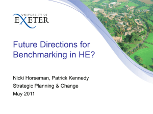 Future Directions for Benchmarking in HE by Nicki Horseman