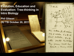 Tree Thinking - University of Oklahoma
