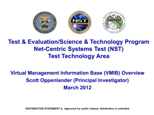 Virtual Management Information Base (VMIB) - Mil-OSS