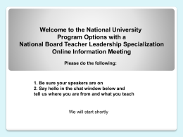 National Board Certificates