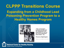 CDC Transition Guidance - National Center for Healthy Housing