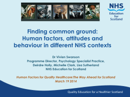 Finding Common Ground - Clinical Skills Managed Educational