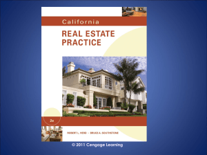 California Real Estate Practice - PowerPoint - Ch 07