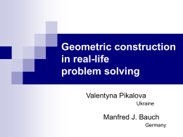 Geometric construction in real