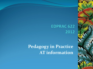 EDPRAC 622 AT information