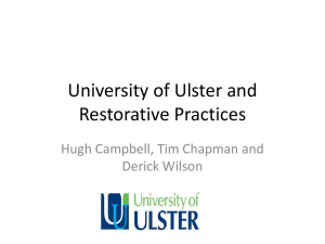 University of Ulster and Restorative Practices