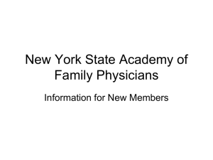 NYSAFP Staff…… - New York State Academy of Family Physicians