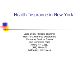 Health Insurance in NY 2011