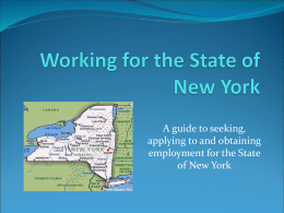 Working for the State of New York