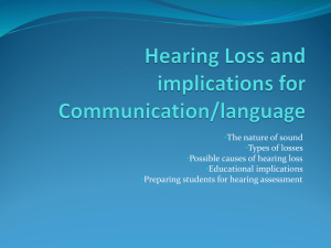 Awareness of Hearing Impairments