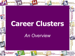 Missouri Career Clusters - Missouri Center for Career Education