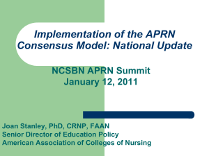 APRN Primary Care Workforce Data, Trends, and Issues
