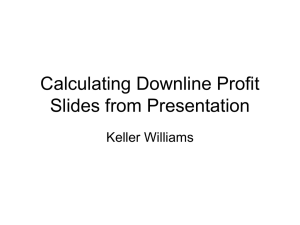 How Downline Profit is Earned