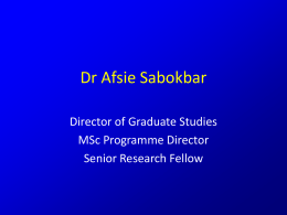 Dr Afsie Sabokbar - University of Oxford