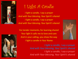 I Light A Candle - Butterfly Music