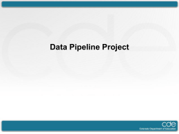 What is the Data Pipeline Project?
