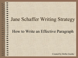 writing janeschaffer
