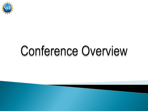 2011 PI Conference Overview