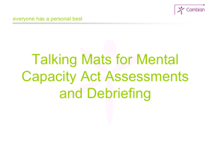 Talking Mats for Mental Capacity Act Assessments and