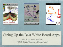 Sizing Up the Best White Board Apps