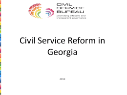 Civil Service Reform in Georgia