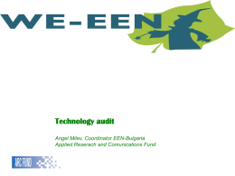 Technology audit - We-een