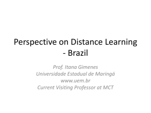 Perspective on Distance Learning - Brazil