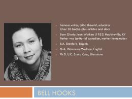 Bell Hooks Wikipedia The Free Encyclopedia