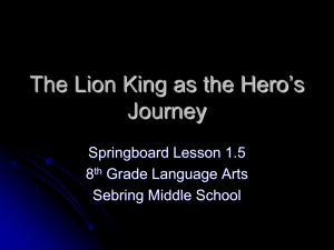 The Lion King as the Hero`s Journey