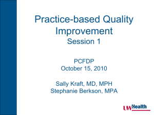 Practice-based Quality Improvement