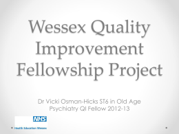 Wessex Quality Improvement Fellowship Projects