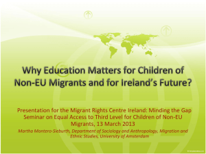 Why education matters for children of non-EU migrants
