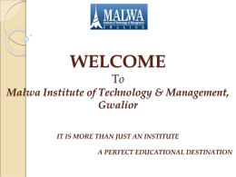 Prospective Students - Malwa Institute of Technology and