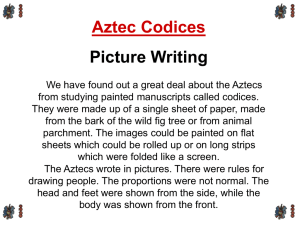 Aztec Codices - Venice High School