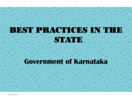 Karnataka - Ministry of Women and Child Development