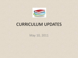 CURRICULUM UPDATES - the School District of Palm Beach County