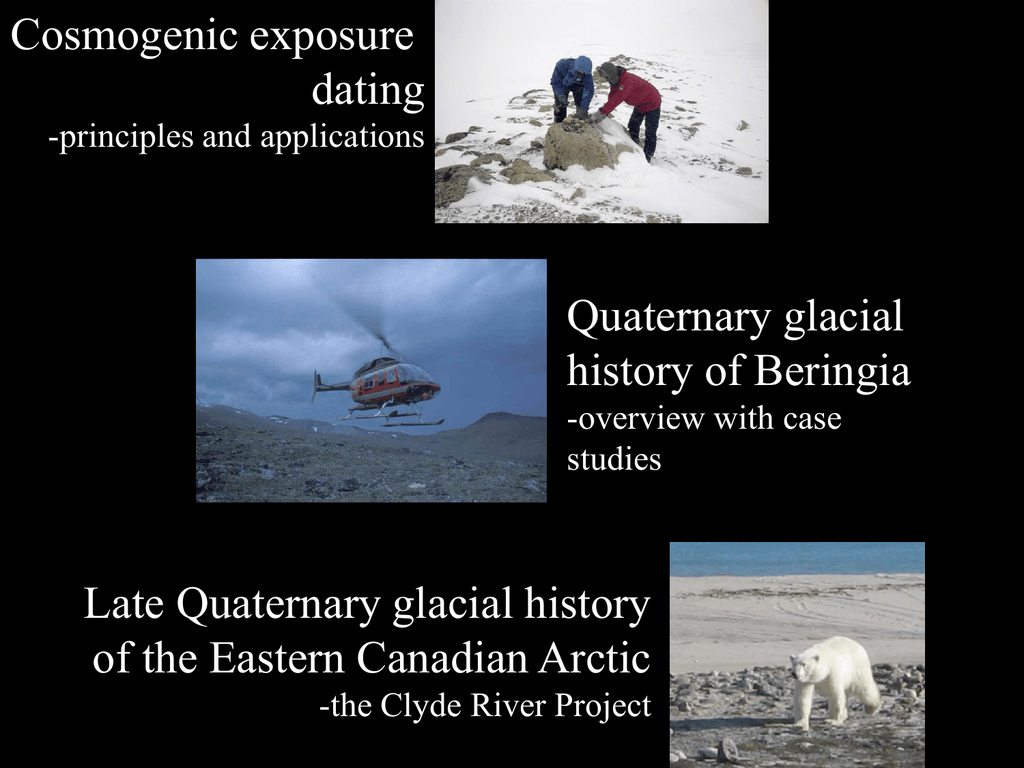 Cosmogenic dating glaciers in canada