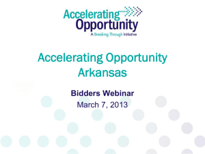 Accelerating Opportunity Arkansas