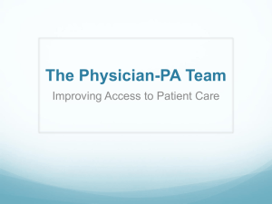 The Physician-PA Team - Pennsylvania Society of Physician