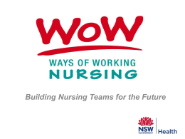 Ways of Working in Nursing and Midwifery