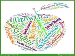 It`s All About Student Growth Objectives