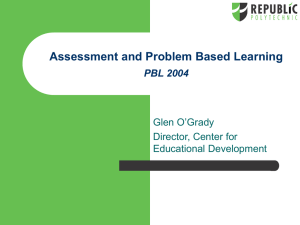 RP-PBL: Assessment