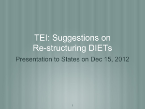 TEI: Suggestions on Re-structuring DIETs