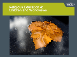 Children and Worldviews