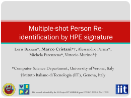 Multiple-shot Person Re-identification by HPE signature
