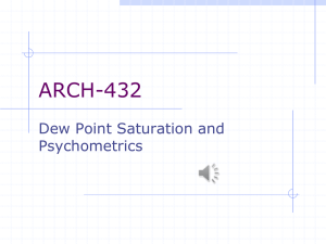Dew Point Saturation and Psychometrics