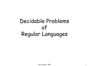 Decidable problems on Regular and Context