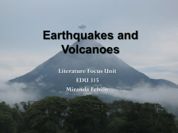 Earthquakes and Volcanoes